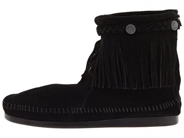 Minnetonka Hi-Top Back Zip Boot